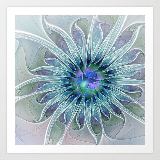 Floral Beauty, Fantasy Flower Art Print