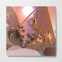 Magical rose gold morning Metal Print