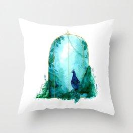 Emerald Jungle Throw Pillow