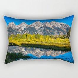 Grand Teton - Reflection at Schwabacher's Landing Rectangular Pillow