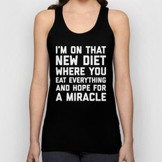 New Diet Funny Quote Unisex Tank Top
