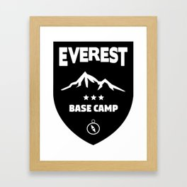 Mount Everst Base Camp Framed Art Print