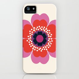 Lightweight - 70s retro throwback floral flower art print minimalist trendy 1970s style iPhone Case