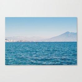 Bay of Naples with Mount Vesuvio Canvas Print