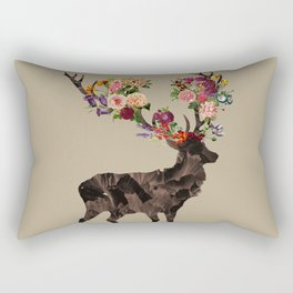 Spring Itself Deer Flower Floral Tshirt Floral Print Gift Rectangular Pillow