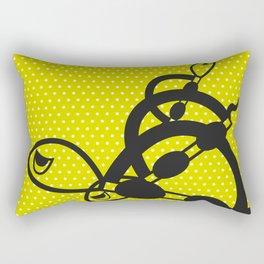 """I can swim in GREEN polka dot!"" Rectangular Pillow"