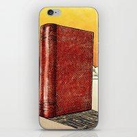 literature iPhone & iPod Skins featuring Literature Heavy book by gunberk