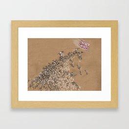 Shiny Things Framed Art Print