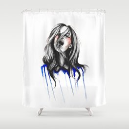 In Our Wildest Moments // Fashion Illustration Shower Curtain