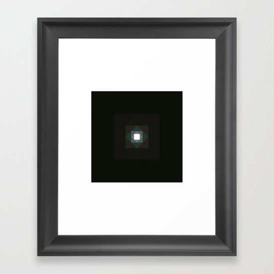 #361 Graced with light part III (square) – Geometry Daily Framed Art Print