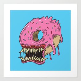 Monster Donut Print Art Print