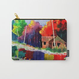 Watercolor Autumn Fishers 4 Carry-All Pouch