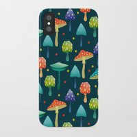 mushrooms iPhone & iPod Cases featuring Mushrooms by Julia Badeeva