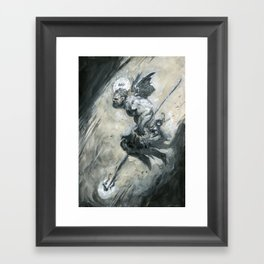 Gray Leap Framed Art Print