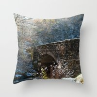 john snow Throw Pillows featuring Early Snow by Captive Images Photography