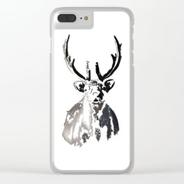 High arctic reindeer Clear iPhone Case