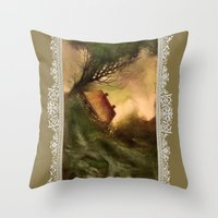 wind Throw Pillows featuring Wind by Iris V.