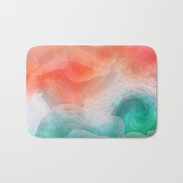 """Coral sand beach and tropical turquoise sea"" Bath Mat"