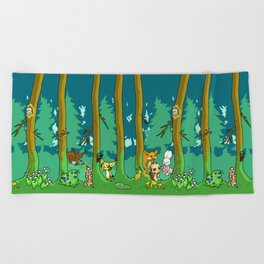 Deep inside the Forest Beach Towel
