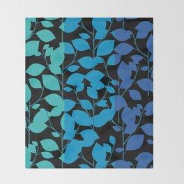 Cobalt Foliage Throw Blanket