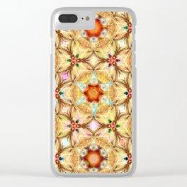 kaleidoscope - releitura de um jardim Clear iPhone Case