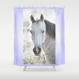 white beauty Shower Curtain