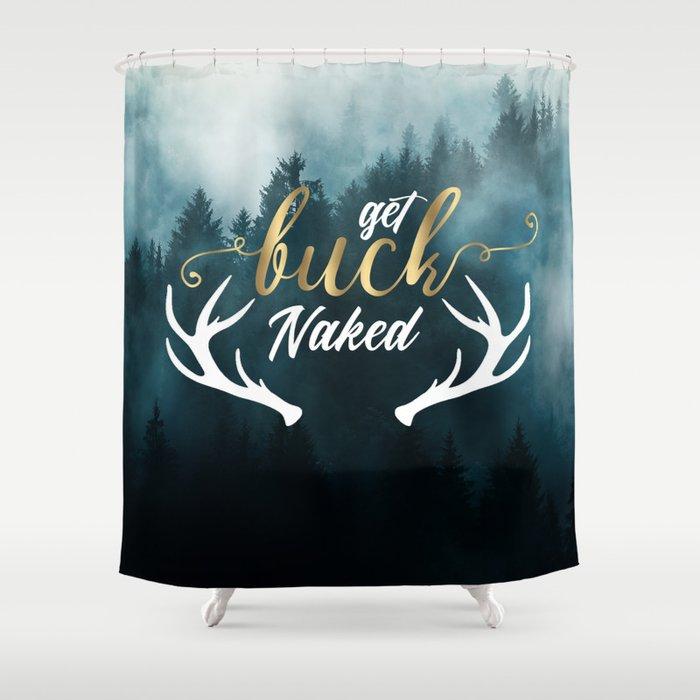Get Buck Naked Bathroom Curtain Shower