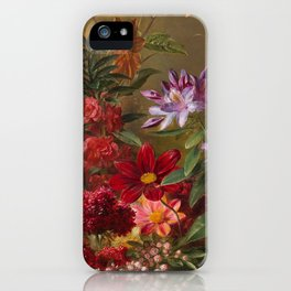 Still Life with Flowers in a Greek Vase: Allegory of Spring by Georgius Jacobus Johannes van Os iPhone Case