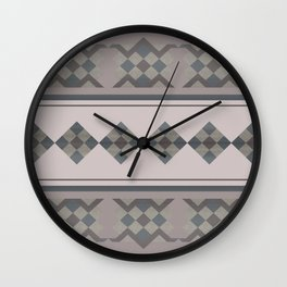 ETHNO PATTERN Folk | brown Wall Clock