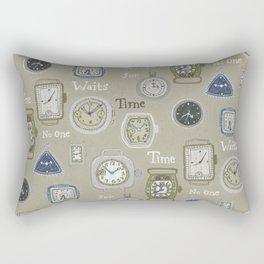 Time Waits or No One Rectangular Pillow