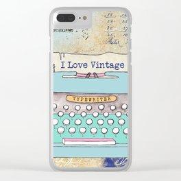 Typewriter #3 Clear iPhone Case