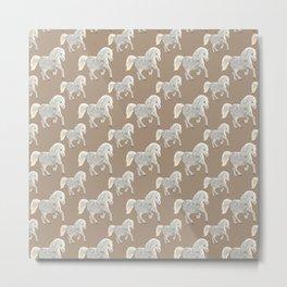 Horse Design Metal Print
