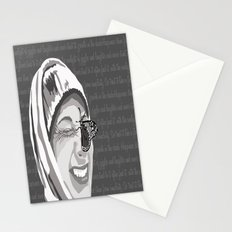 Happiness in Grayscale Stationery Cards