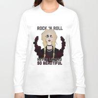 """rock n roll Long Sleeve T-shirts featuring Rock 'n Roll """"Beauty"""" by joeyj"""