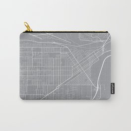 Billings Map, Montana USA - Pewter Carry-All Pouch