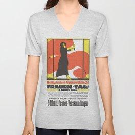 Vintage poster - Fruen Tag Unisex V-Neck