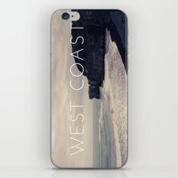 west coast iPhone & iPod Skins featuring West Coast by CaraGriffith