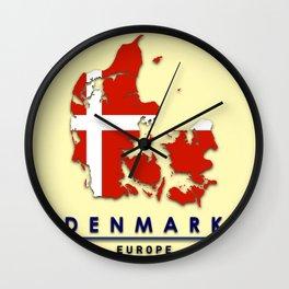 Denmark - Europe Wall Clock