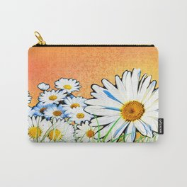 Daisies - Orange and Gold 2 Carry-All Pouch