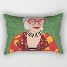 Iris Apfel Rectangular Pillow