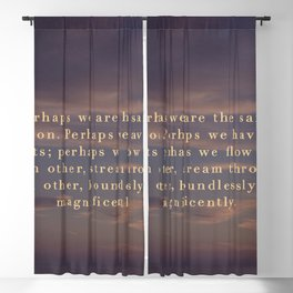 Perhaps we are the same person Blackout Curtain
