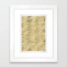 Tropical Gold Framed Art Print