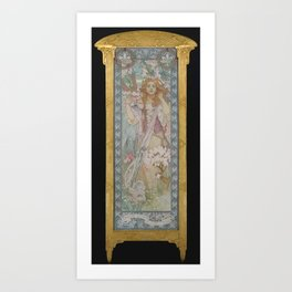 Alphonse Maria Mucha - Maude Adams (1872–1953) as Joan of Arc Art Print