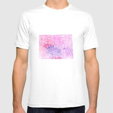 Typographic Colorado - pink watercolor White Mens Fitted Tee MEDIUM