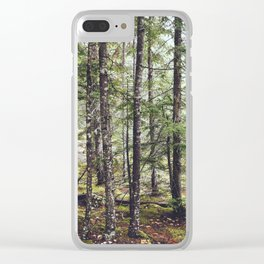Squamish Forest Floor Clear iPhone Case