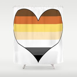 Bear Heart Shower Curtain