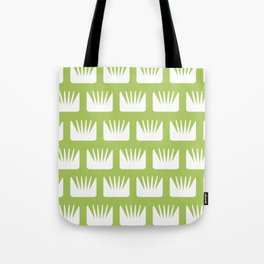 Mid Century Modern Flower Pattern Chartreuse Tote Bag