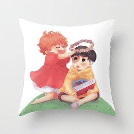 Ponyo loves Sosuke Throw Pillow