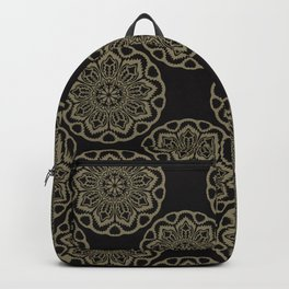 Circle Flourish Floral Mandala Backpack