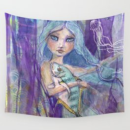 Plenty more Fish in the Sea by Jane Davenport Wall Tapestry